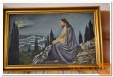 NABOŽNA SLIKA-JEZUS NA GORI SINAJ OLJE NA PLATNU 85X57cm