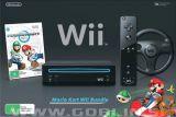 Nintendo Wii črn + Mario Kart + volan