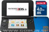 Nintendo 3DS XL moder + spominska kartica 4GB + napajalnik
