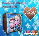 Previjalna miza, predalnik SRAKA Princeski Ana in Elsa