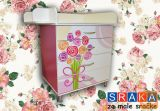Previjalna miza, predalnik SRAKA Šopek vrtnic