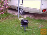 Prenosni plinski žar za vrt,avtodom.. prostostoječ