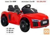 Otroški avto na akumulator AUDI R8 SPYDER (rdeč)