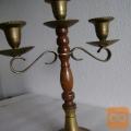 Vintage Tro-svečnik star preko 90 let