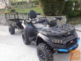 Tovorna prikolica za ATV, Shark WOOD 550, kiper prikolica